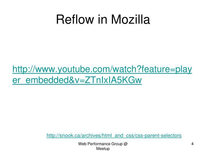 Reflow in Mozilla