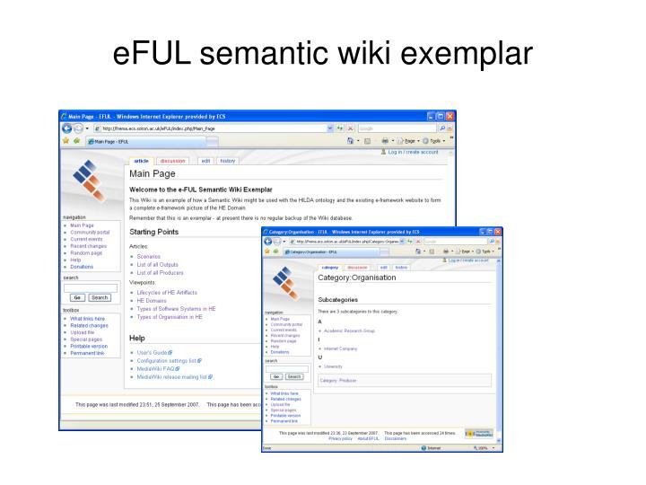 eFUL semantic wiki exemplar