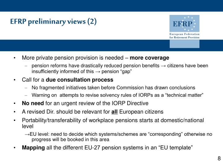 EFRP preliminary views (2)