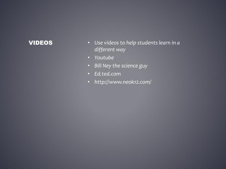 Use videos to help students learn in a different way