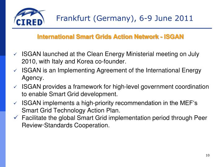 International Smart Grids Action Network - ISGAN