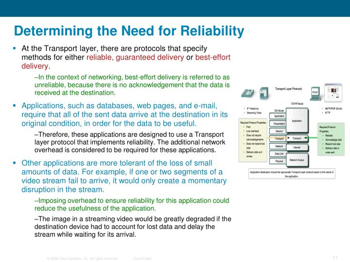 Determining the Need for Reliability
