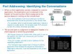 port addressing identifying the conversations1