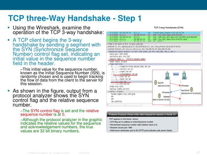 TCP three-Way Handshake - Step 1
