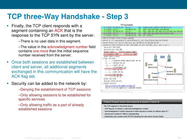 TCP three-Way Handshake - Step 3