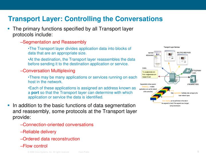 Transport Layer: Controlling the Conversations