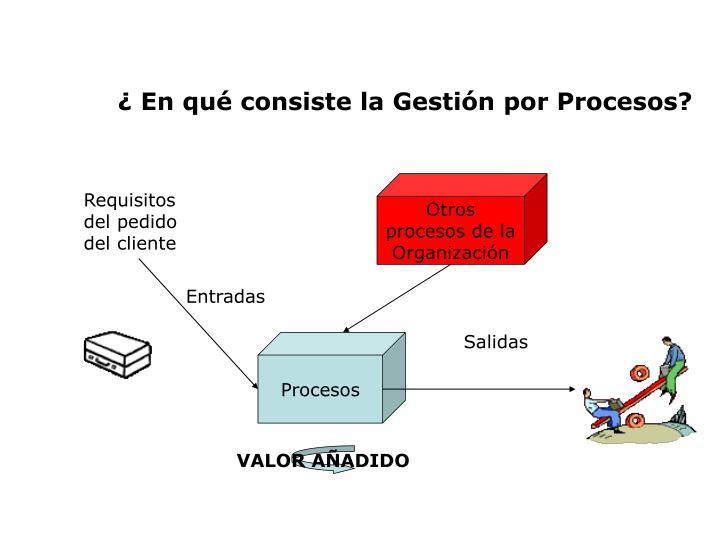 ¿ En qué consiste la Gestión por Procesos?