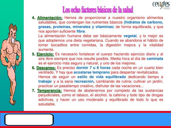 Los ocho factores básicos de la salud