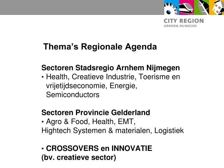Thema's Regionale Agenda