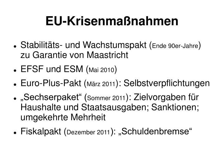 EU-Krisenmaßnahmen