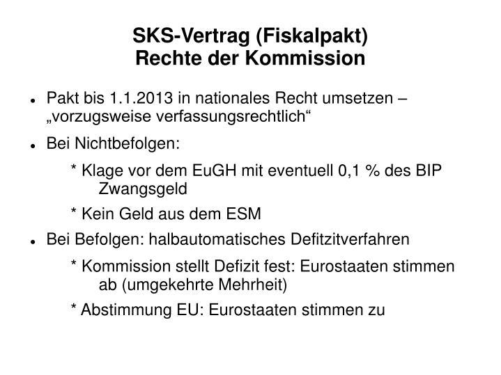 SKS-Vertrag (Fiskalpakt)