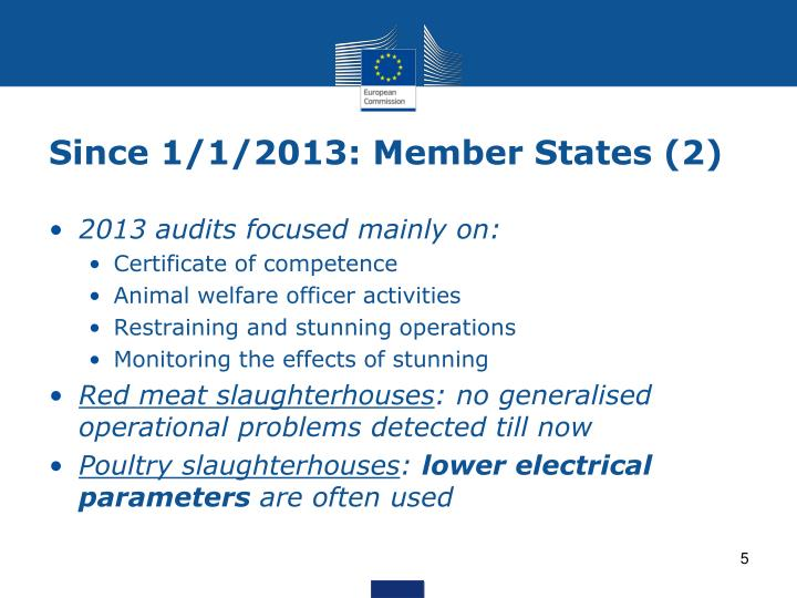 Since 1/1/2013: Member States (2)