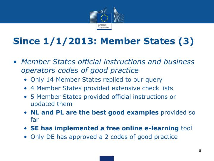 Since 1/1/2013: Member States (3)