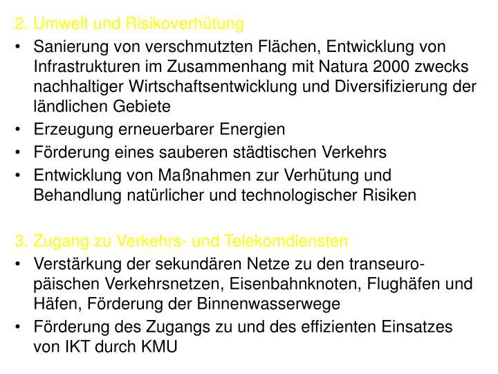 2. Umwelt und Risikoverhütung