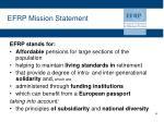 efrp mission statement