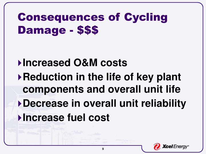 Consequences of Cycling Damage - $$$