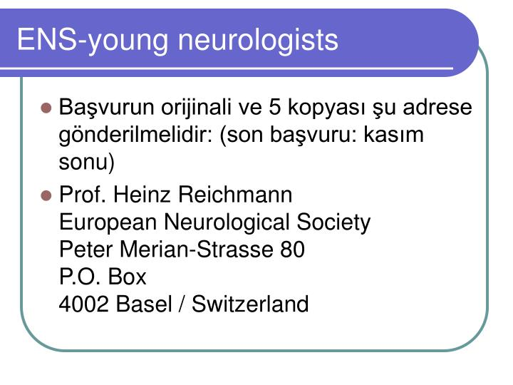 ENS-young neurologists