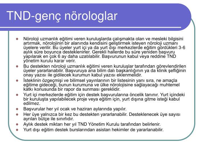 TND-genç nörologlar