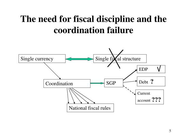 The need for fiscal discipline and the coordination failure