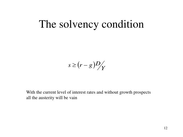 The solvency