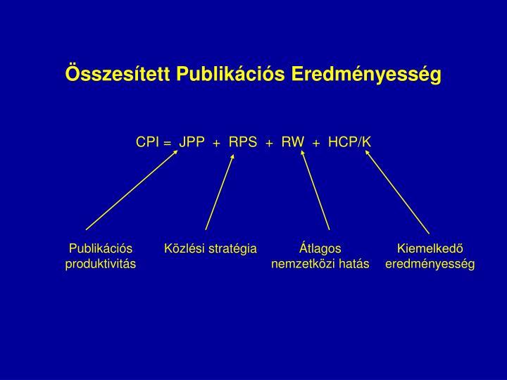Összesített Publikációs Eredményesség