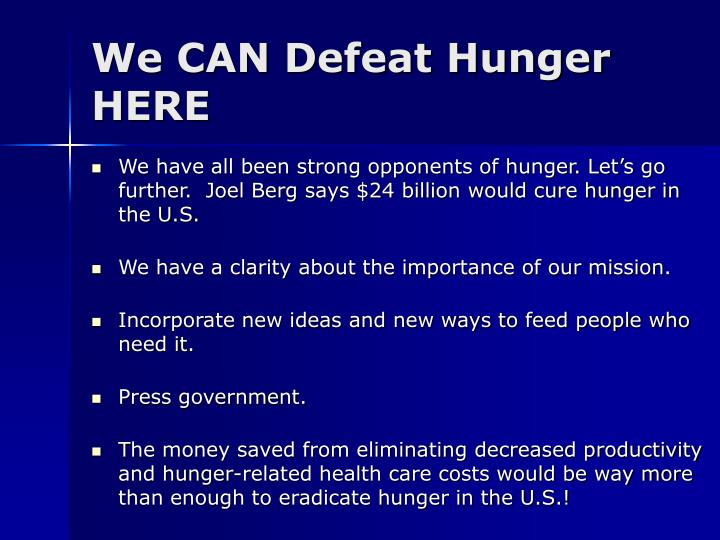 We CAN Defeat Hunger HERE