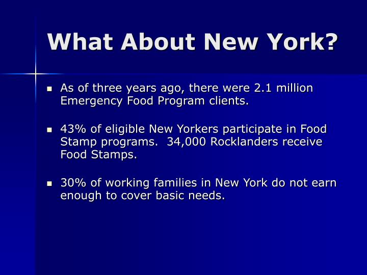 What About New York?