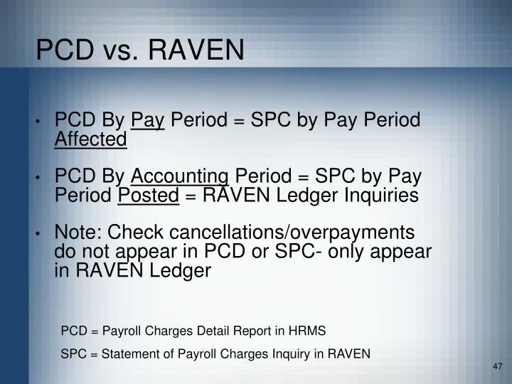 PCD vs. RAVEN