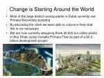 change is starting around the world