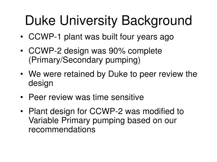 Duke University Background