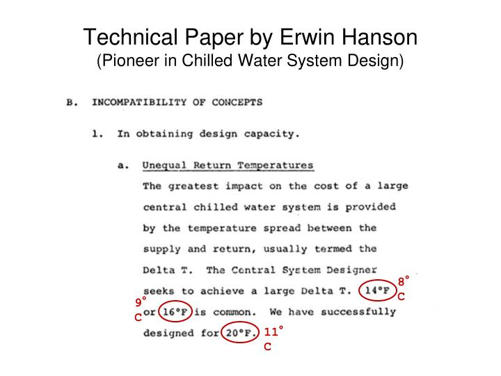 Technical Paper by Erwin Hanson
