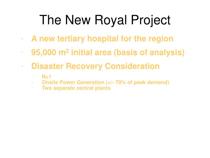 The New Royal Project