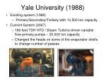 yale university 1988