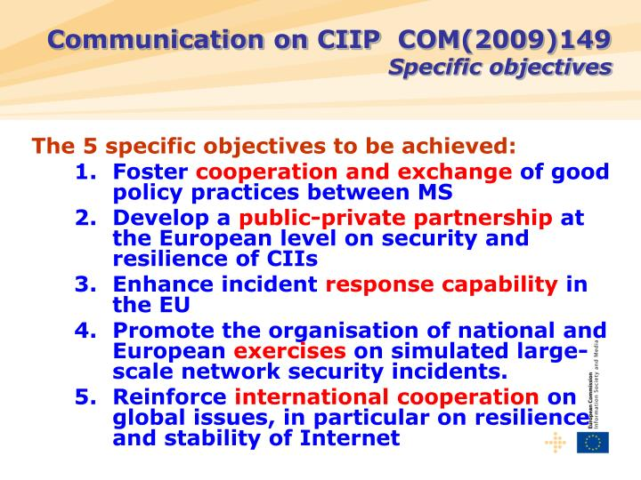Communication on CIIP