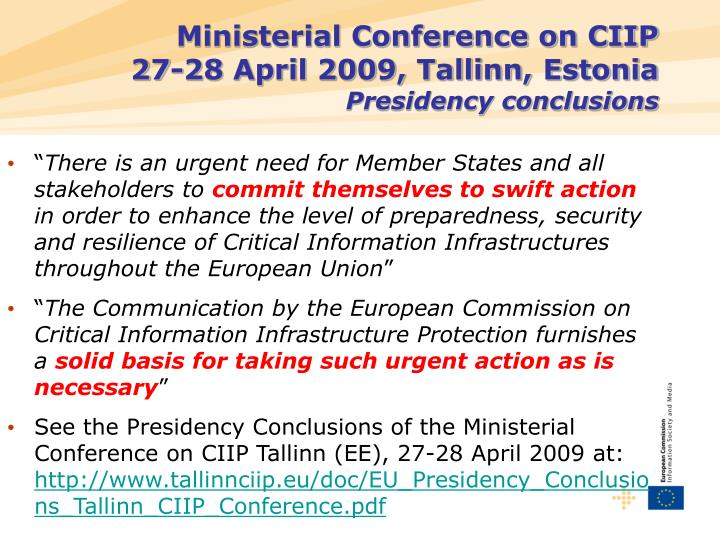 Ministerial Conference on CIIP