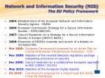 network and information security nis the eu policy framework