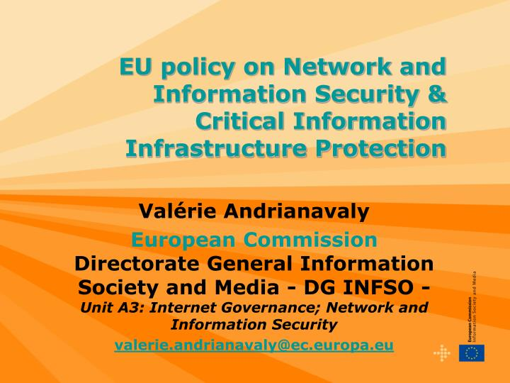 EU policy on Network and Information Security &