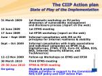the ciip action plan state of play of the implementation