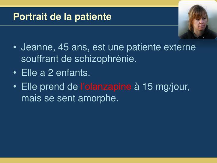 Portrait de la patiente