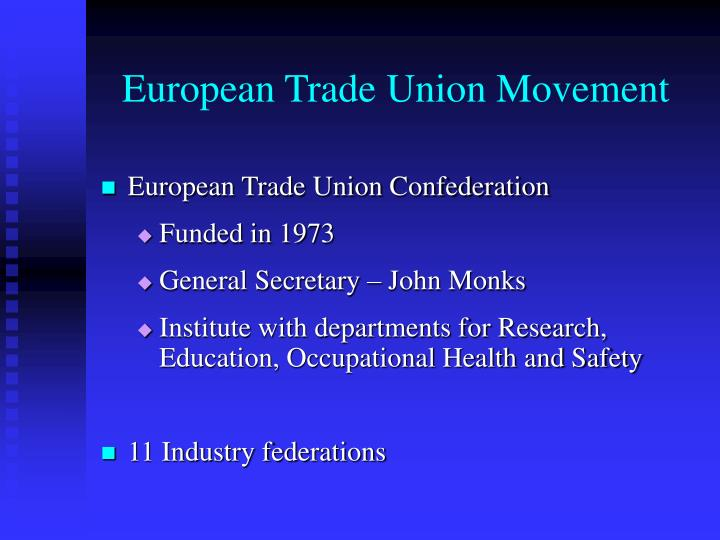 European Trade Union Movement