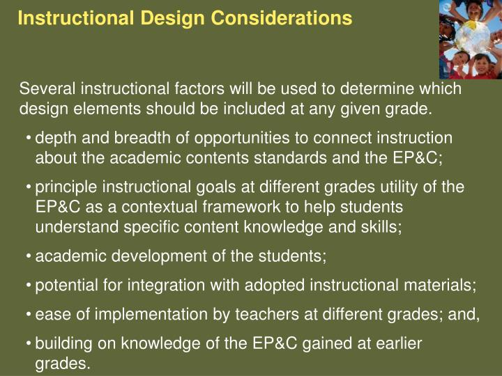 Instructional Design Considerations