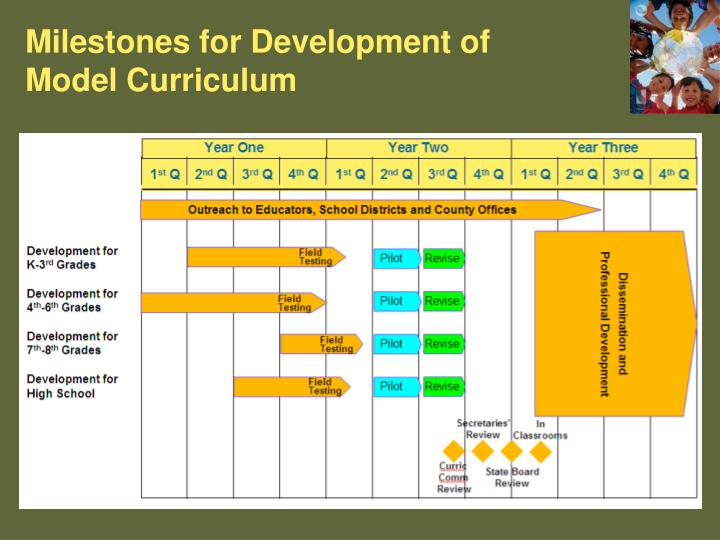 Milestones for Development of