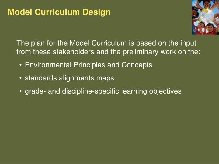 Model Curriculum Design