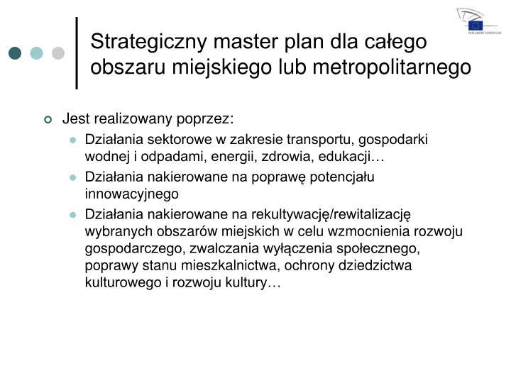 Strategiczny master plan dla całego obszaru miejskiego lub metropolitarnego