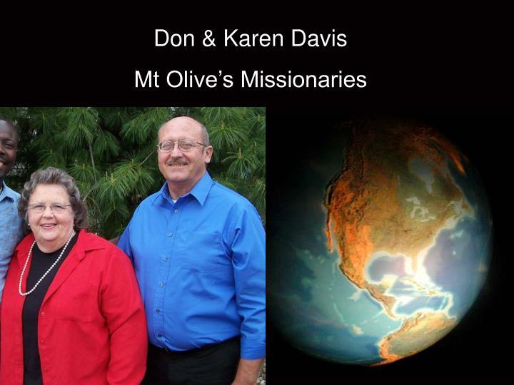 Don & Karen Davis