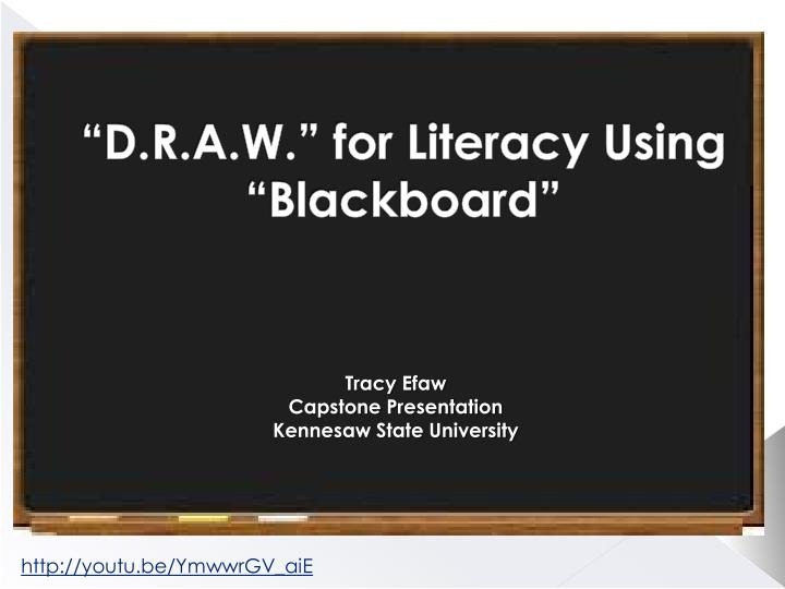 D r a w for literacy using blackboard