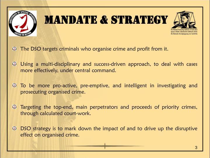 MANDATE & STRATEGY