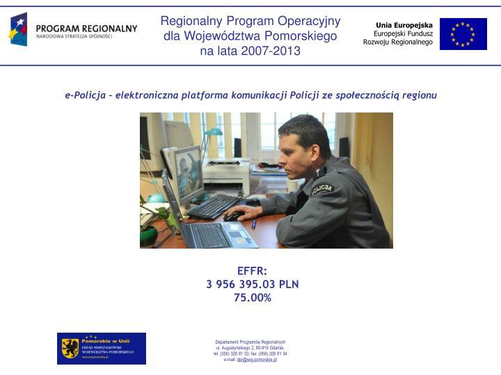 e-Policja  elektroniczna platforma komunikacji Policji ze spoecznoci regionu