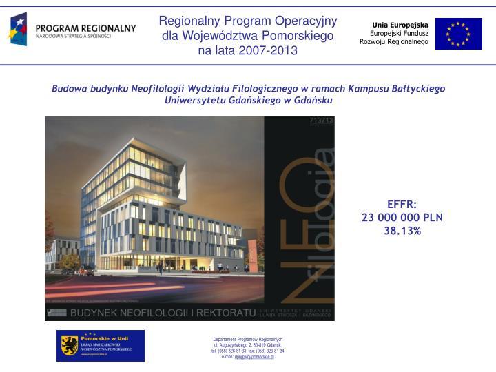 Budowa budynku Neofilologii Wydziau Filologicznego w ramach Kampusu Batyckiego Uniwersytetu Gdaskiego w Gdasku