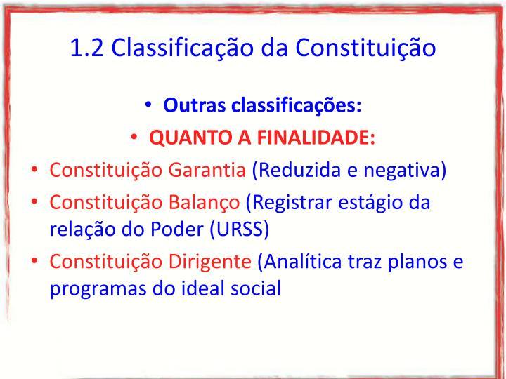 1.2 Classificação da Constituição
